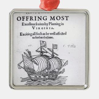 Nova Britannia. Offring Most Excellent Fruites Christmas Ornament