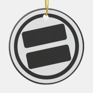 NOVA Pride B/W Circle Ornament