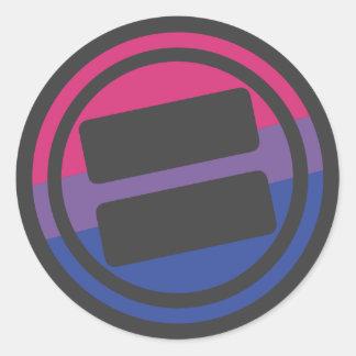 NOVA Pride Bisexual Logo - Round Classic Round Sticker