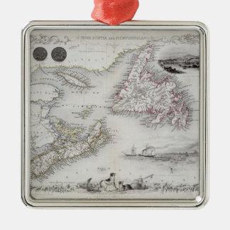 Nova Scotia and Newfoundland, from a Series of Wor Christmas Ornament