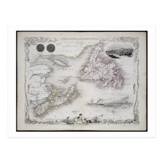 Nova Scotia and Newfoundland, from a Series of Wor Postcard