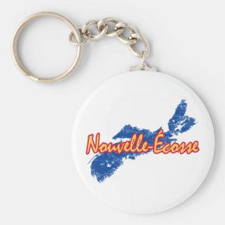 Nova Scotia Basic Round Button Key Ring