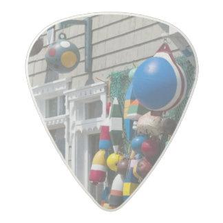 Nova Scotia, Canada. Buoy shop in  Blue Rocks in Acetal Guitar Pick