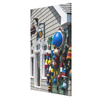Nova Scotia, Canada. Buoy shop in  Blue Rocks in Canvas Print