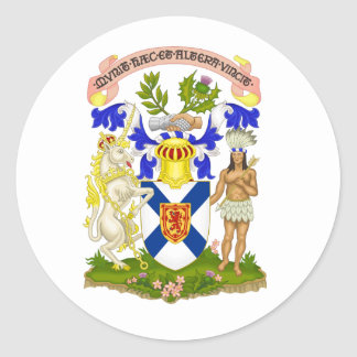 Nova Scotia Canada Coat of Arms Round Sticker