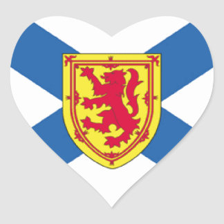 Nova Scotia Canada Flag Heart Sticker