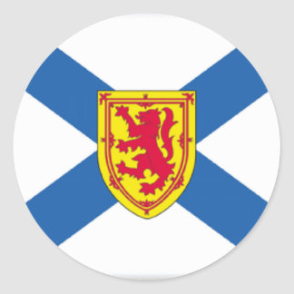 Nova Scotia Canada Flag Round Sticker
