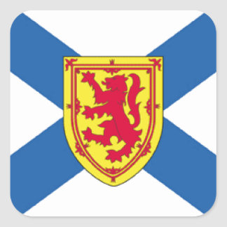 Nova Scotia Canada Flag Square Stickers
