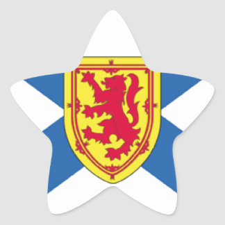 Nova Scotia Canada Flag Star Stickers