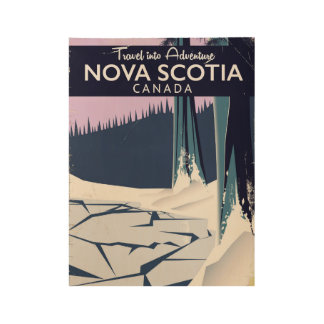 Nova Scotia, Canada holiday travel poster. Wood Poster