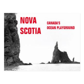 Nova Scotia Canada's Ocean Playground Vintage Post Postcard
