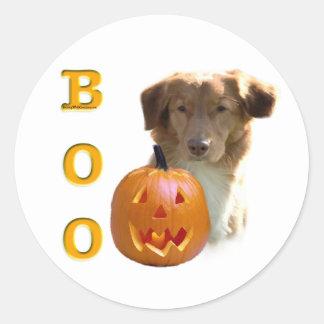 Nova Scotia Duck Tolling Boo Round Sticker