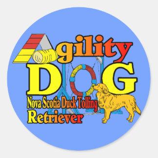 Nova Scotia Duck Tolling Retriever Agility Round Sticker