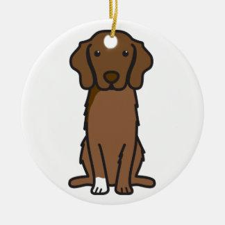 Nova Scotia Duck Tolling Retriever Dog Cartoon Christmas Ornament