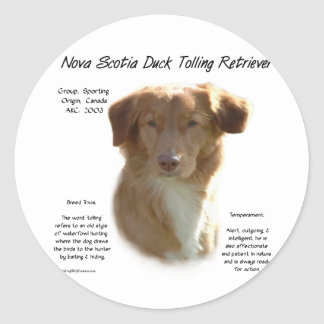 Nova Scotia Duck Tolling Retriever History Design Round Sticker