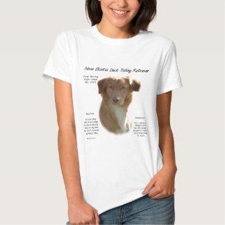 Nova Scotia Duck Tolling Retriever History Design Tee Shirt