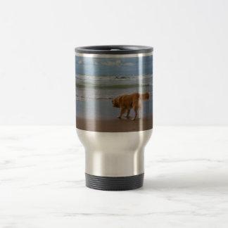 Nova Scotia Duck Tolling Retriever Ocean Cautious Stainless Steel Travel Mug