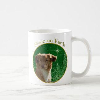 Nova Scotia Duck Tolling Retriever Peace Classic White Coffee Mug