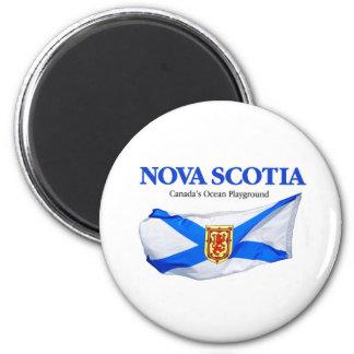 Nova Scotia Flag 6 Cm Round Magnet