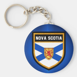 Nova Scotia Flag Basic Round Button Key Ring