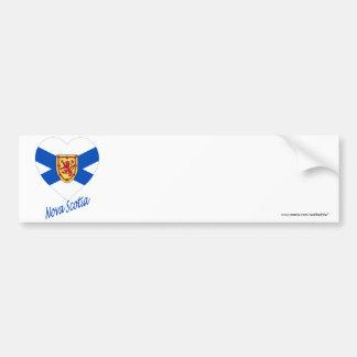 Nova Scotia Flag Heart with Name Bumper Sticker