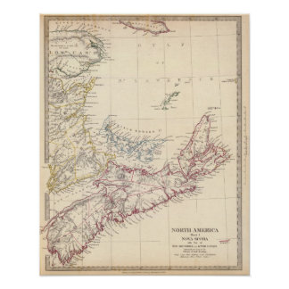 Nova Scotia, NB, Lower Canada Poster