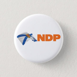 Nova Scotia NDP Logo 3 Cm Round Badge