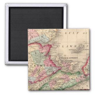 Nova Scotia, New Brunswick, Map by Mitchell Magnet