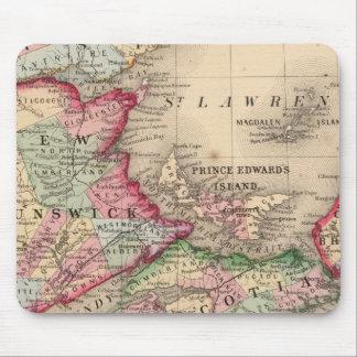 Nova Scotia, New Brunswick, Map by Mitchell Mouse Mat