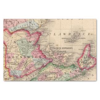 Nova Scotia, New Brunswick, Map by Mitchell Tissue Paper