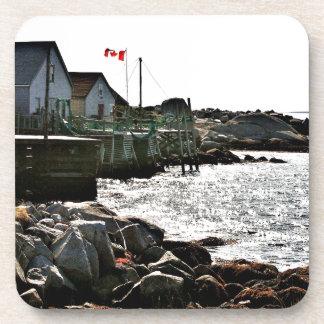 Nova Scotia s Fishing Village Beverage Coaster
