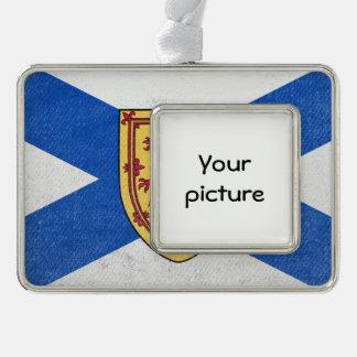 Nova Scotia Silver Plated Framed Ornament