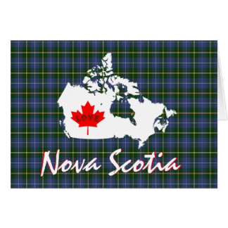 Nova Scotia tartan Customize Love Canada card