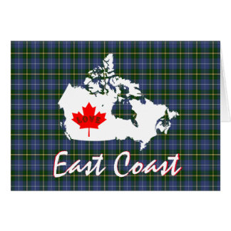 Nova Scotia tartan Customize Love East Coast card