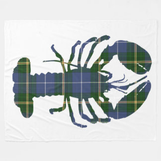 Nova Scotia Tartan lobster fleece blanket
