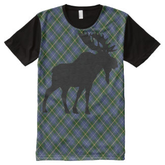 Nova Scotia Tartan moose American Apparel All-Over Print T-Shirt
