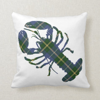 Nova Scotia Tartan Plaid Decorator Lobster pillow