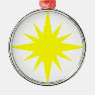 Nova Star Silver-Colored Round Decoration