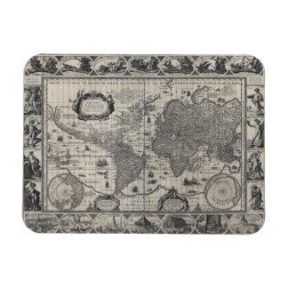 Nova totius terrarum, 1606 Antique World Map Rectangular Photo Magnet