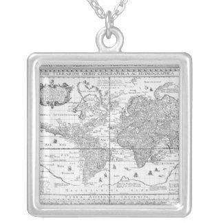Nova Totius Terrarum Orbis Silver Plated Necklace