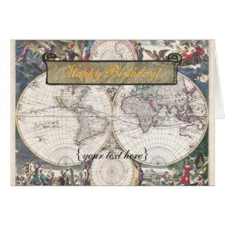 Nova Totius Terrarum Orbis Tabula - Happy Birthday Card