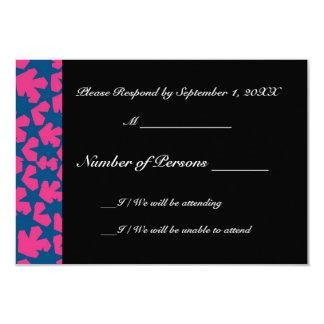 Novae Ebony (Blue/Magenta) RSVP Card 9 Cm X 13 Cm Invitation Card