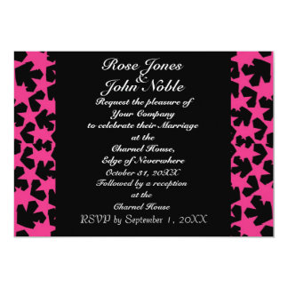 Novae Ebony (Magenta) Wedding Invitation