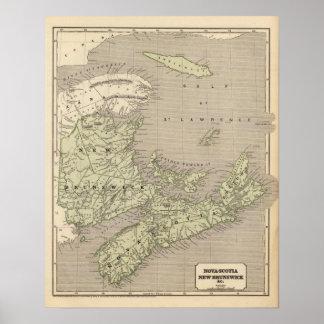 NovaScotia, New Brunswick Poster