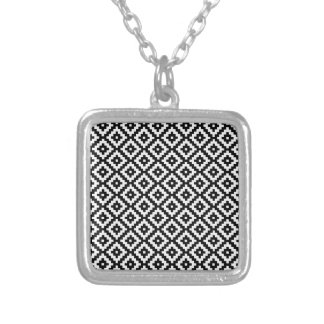 Novel Fine Simple Determined Square Pendant Necklace