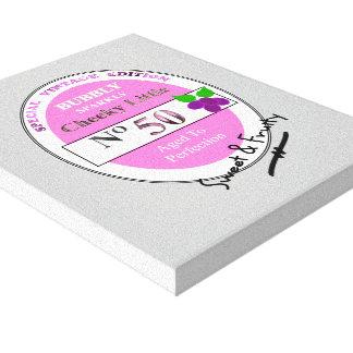 Novelty 50th Milestone Birthday Funny Wine Label Canvas Print