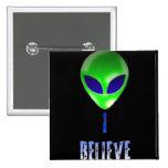 Novelty Alien Designs Pinback Buttons