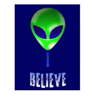 Novelty Alien Designs Postcards