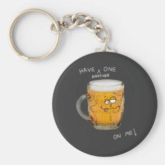 novelty beer monster key chain