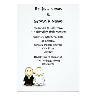 Novelty Bride & Groom Wedding Invitation Template